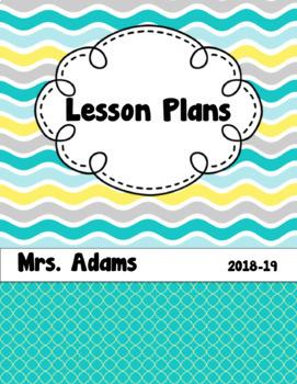 Summer Waves Editable Teacher  Binder / Lesson Planner 2016-2017