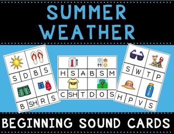 Summer Weather Beginning Sound Cards
