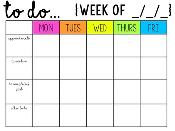 Summer Weekly To-Do List {For TPT Sellers}