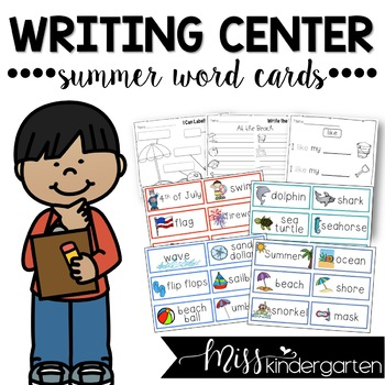 Summer Word Cards {and writing practice}