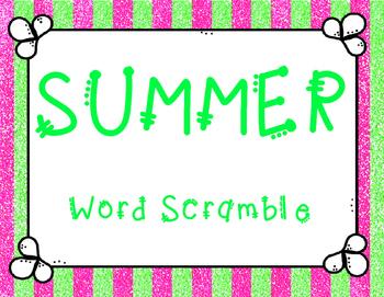 Summer Word Scramble