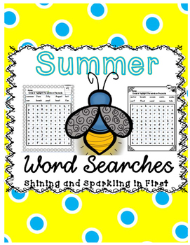 Summer Word Searches