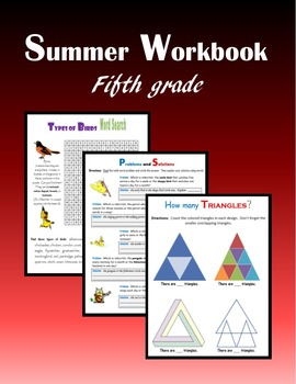 Summer Workbook:  Fifth grade