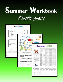 Summer Workbook:  Fourth grade