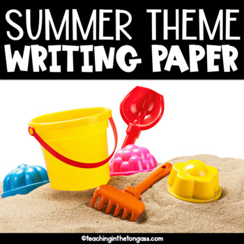 Summer Writing Paper Free