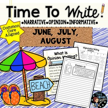 Summer Writing Prompts: Posters, Models, Rubrics, and Organizers