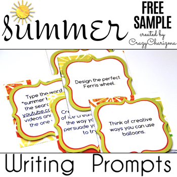 Summer Writing Prompts {Free Sample}