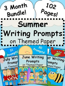 Summer Writing Prompts on Themed Paper {Just Print & Go!}