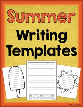 Summer Writing Templates