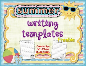Summer Writing Templates Freebie