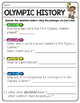 Summer and Ancient Olympics Fluency Passages