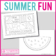 Summer art activity pack: 25 coloring templates to fill wi