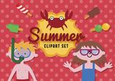 Summer clip art set