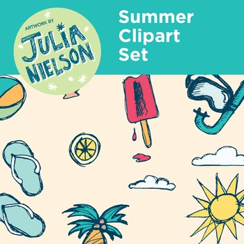 Summer clipart set