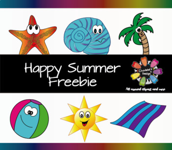 Happy Summer Freebie Clips