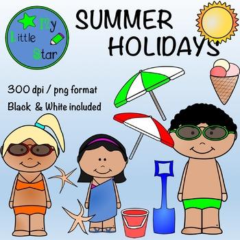 Summer holidays: clipart