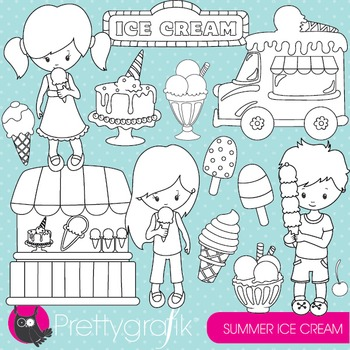 Summer ice cream stamps commercial use, vector graphics, i