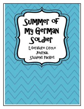 Summer of my German Soldier Literature Circle Journal Stud