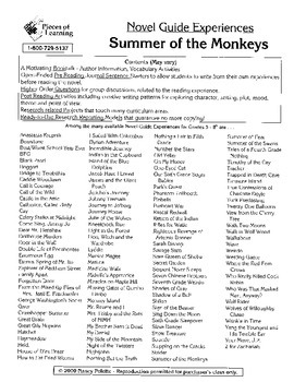 Summer of the Monkeys Literature Guide