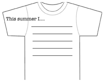 Summer t-shirt activity