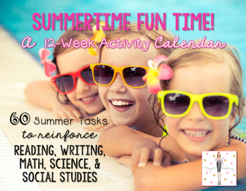 Summer Activity Calendar: End-of-the-Year FREEBIE! {12-Wee