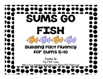 Sums Go Fish: Fact Fluency for Sums 5-10