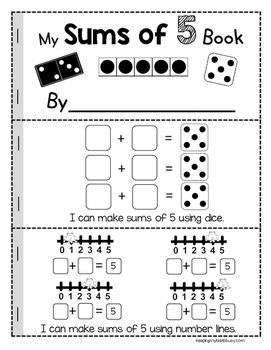 Sums of Five {FREEBIE} Operations and Algebraic Thinking