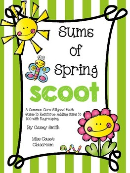 Sums of Spring Scoot - First Grade Common Core Alligned Ad