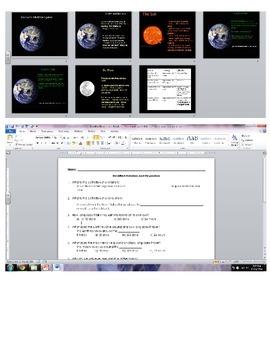 Sun, Earth, Moon System- Rotation and Revolution