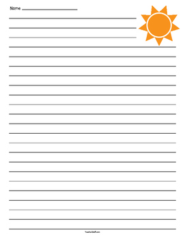 Sun Lined Paper