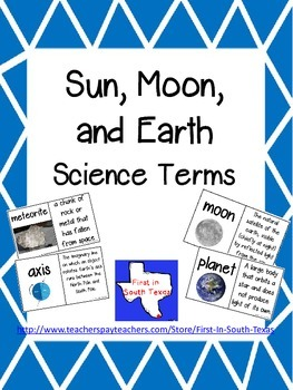 Sun, Moon, Earth Vocabulary