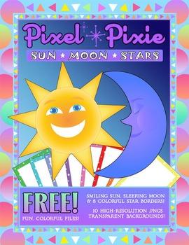 Sun, Moon and Stars FREEBIE!