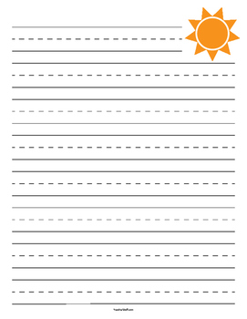 Sun Primary Lined Paper