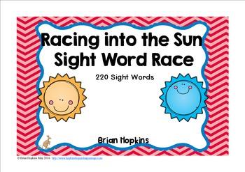 Sun Sight Word Race