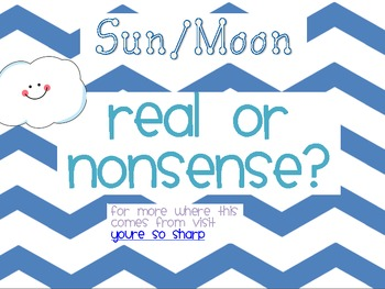Sun and Moon Real or Nonsense Words