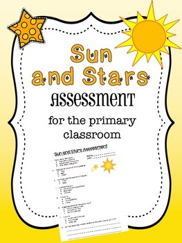 Sun and Stars Assessment - First Grade