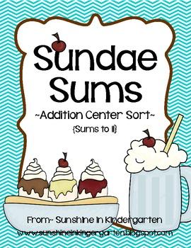 Sundae Sums {An Addition Center Sort}