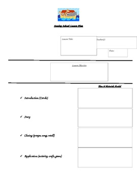 Sunday School Lesson Plan Template