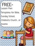Sunday School or Bible Lesson Plan Template