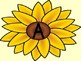 Sunflower Alphabet Letter Posters / Word Wall Letter Labels