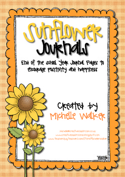 Sunflower Journals End of the School Year Journal Pages FREEBIE