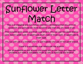 Sunflower Letter Match