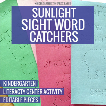 Sunlight Sight Word Catchers Pokey Pinning Literacy Center