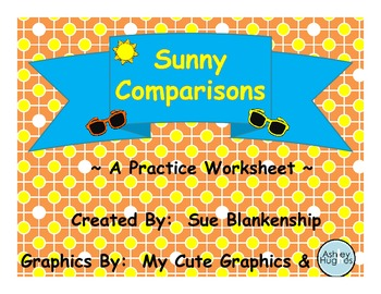 Sunny Comparisons -- The Worksheet