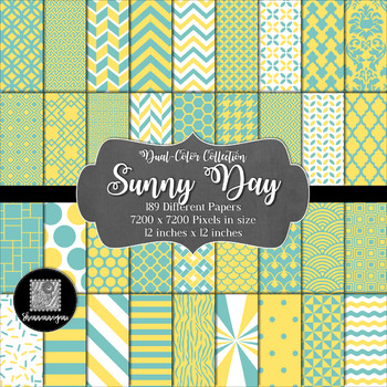 Sunny Day Digital Paper Collection 12x12 600dpi