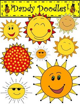 Sunny Days FREEBIE Clip Art by Dandy Doodles