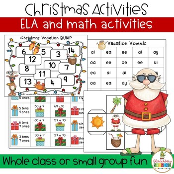 Christmas Math Language Arts activities