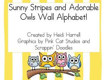 Sunny Stripes and Adorable Owl Wall Alphabet