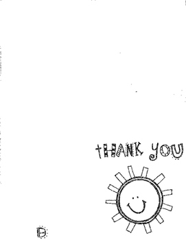 Sunny Thank You Card