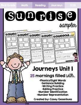"""""""Sunrise Sampler"""" Unit 1 (25 Mornings of Morning Work)"""